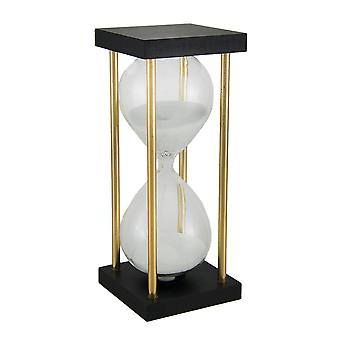 Contemporary White Sand Hourglass In Decorative Stand