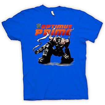 Kids t-shirt-Transformers Optimus Prime agachado