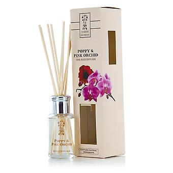 Ashleigh & Burwood Earth Secrets Home Fragrance Collections Reed Diffusers 50ml Poppy & Pink Orchid