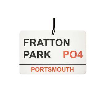 Portsmouth / Fratton Park Street Logg bil Air Freshener