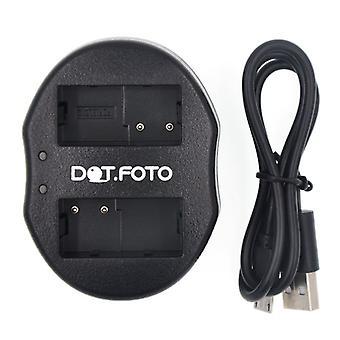Dot.Foto Panasonic DMW-BLC12, DMW-BLC12E, DMW-BLC12PP Dual USB-Ladegerät