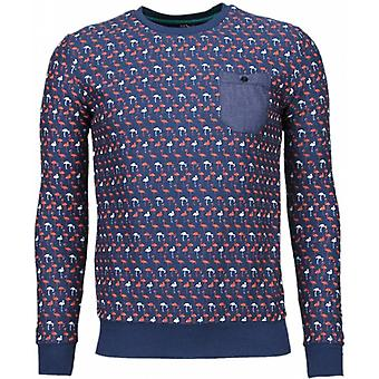 Flamingo-sweatshirt-dark blue