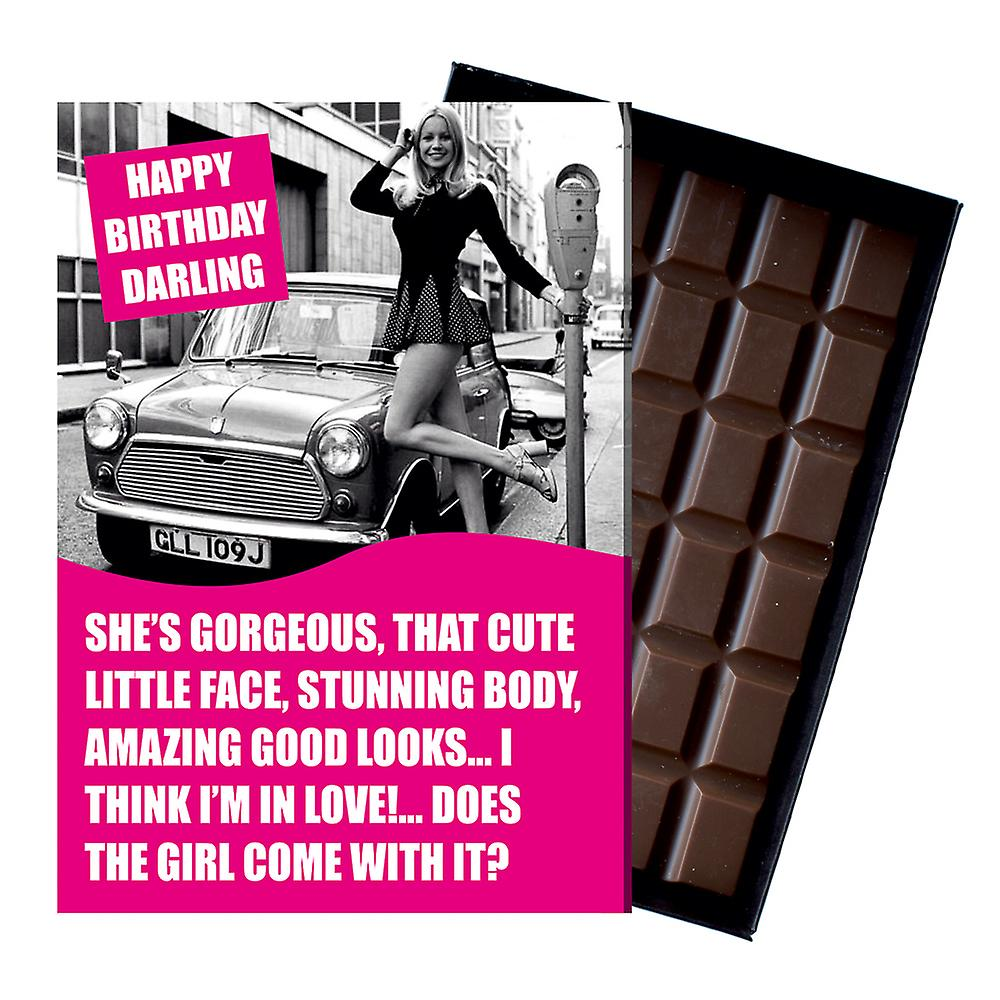 Funny Birthday Gift for Morris Mini Owner Cooper Classic Car Chocolate Greeting Card Present CDL230