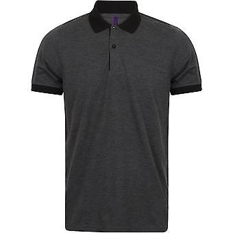 Henbury - Mens Contrast Triblend Polo Shirt