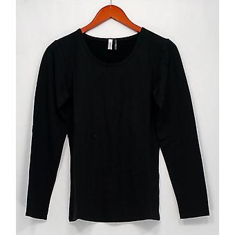 Legacy Top Cuddle Me Scoop Neck Long Sleeve T-Shirt Black A260464