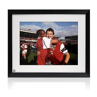 Ian Wright Signed Arsenal Photo: 1998 League Winners. Framed