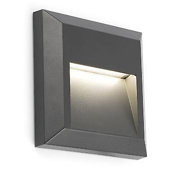 Wellindal Grant-C Dark Grey Wall Lamp Led 3000K
