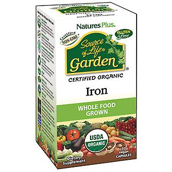 Natures Plus Source Of Life Garden Iron (Organic) 30Vcaps