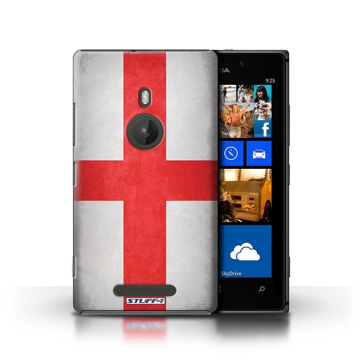 STUFF4 Case/Cover for Nokia Lumia 925/England/English/Flags