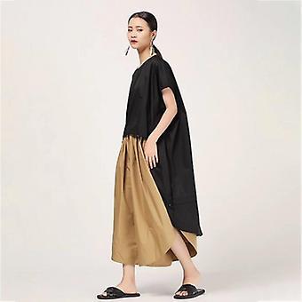Sleeve Asymmetrical Drawstring Hem Loose Plus Size Dress