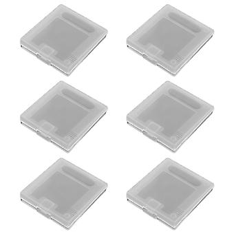 Clear single game storage case for nintendo game boy original & color - 6 pack