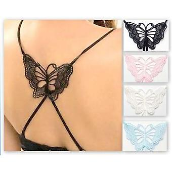 Replaceable BRA strap with butterfly (white)
