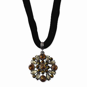 Black Plating Fancy Lobster Closure Black plated Mulitcolored Glass and Acrylic Beads 16inch With Ext Necklace Jewelry G