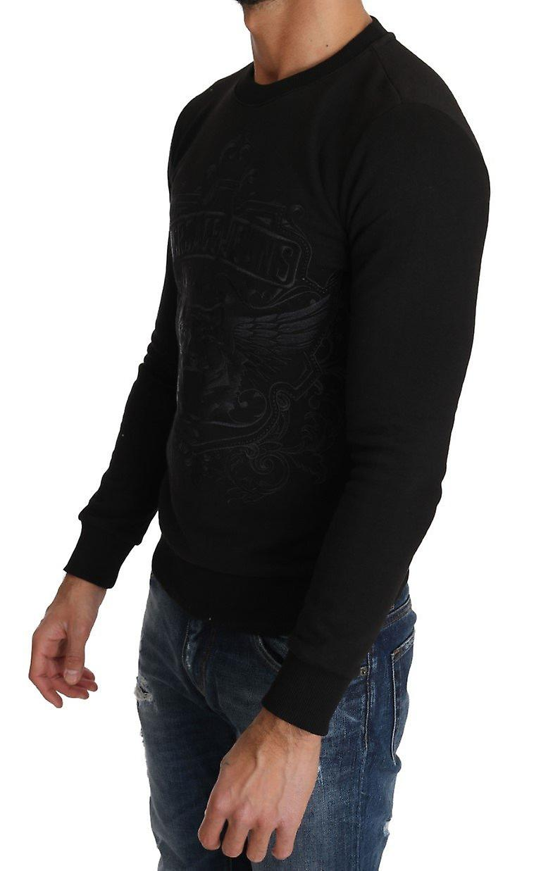 Black Cotton Tiger Embroidered Pullover