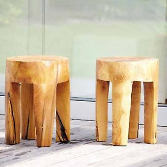 Jan Kurtz Java Teak Stool round unique for indoor and outdoor use