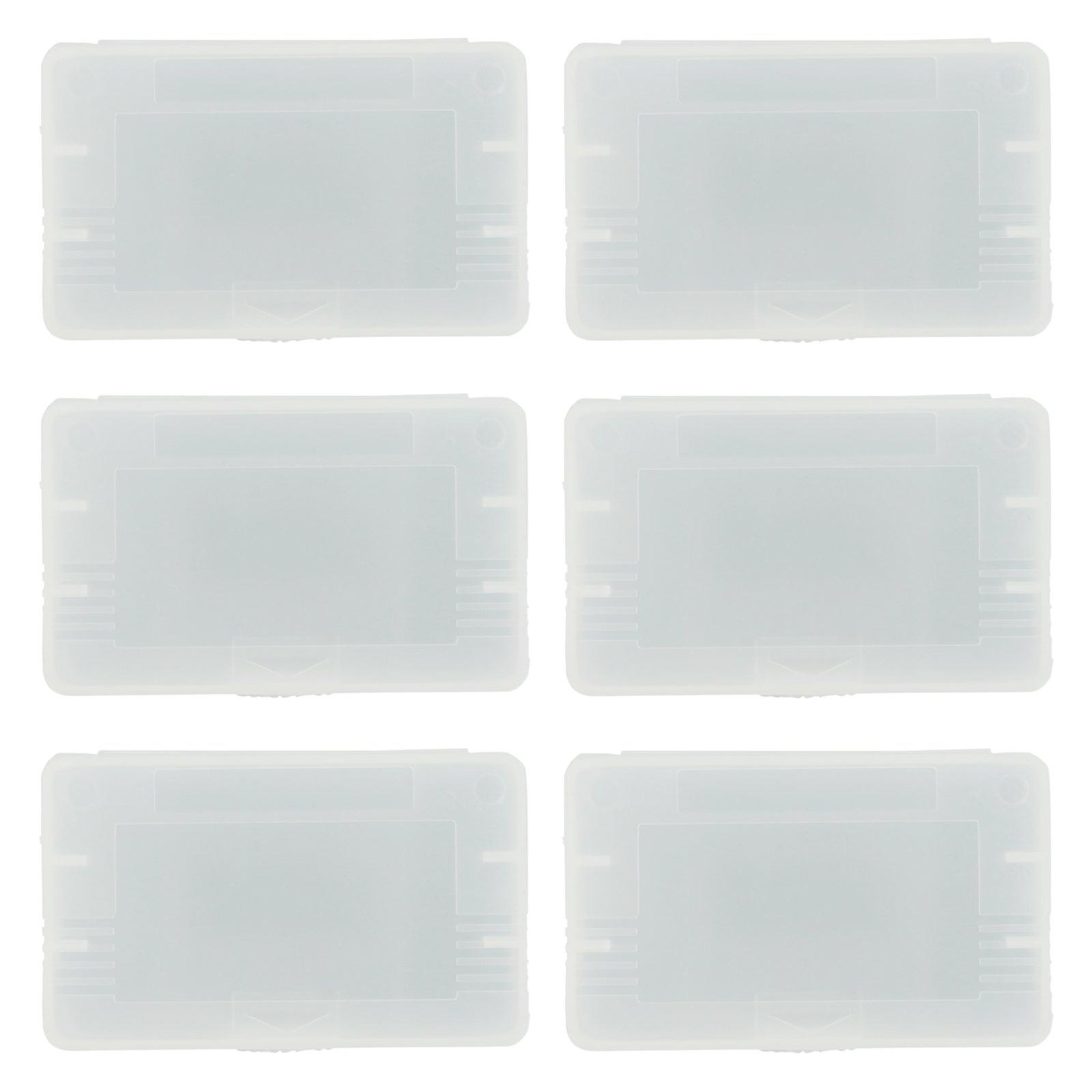 Single game storage case for nintendo game boy advance gba sp - 6 pack clear