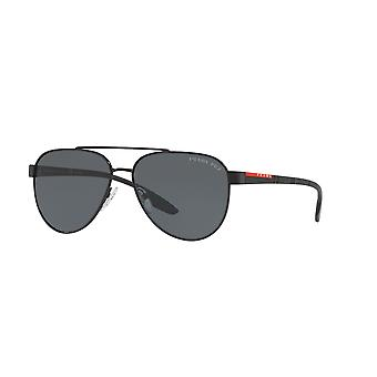 Prada Sport Linea Rossa SPS54T 1AB5Z1 Black/Polarised Grey Sunglasses