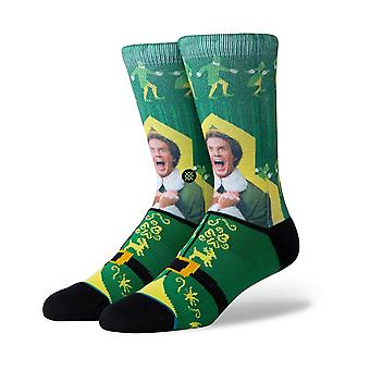 Stance I Know Him (Elf) Crew Socks in Green