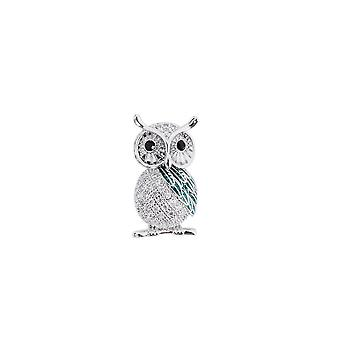Fable Womens/Ladies Cubic Zirconia Owl Brooch