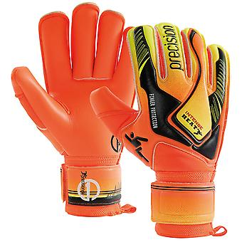 Precision Intense Heat Finger Protection Adult Goalkeeper Glove Orange/Black