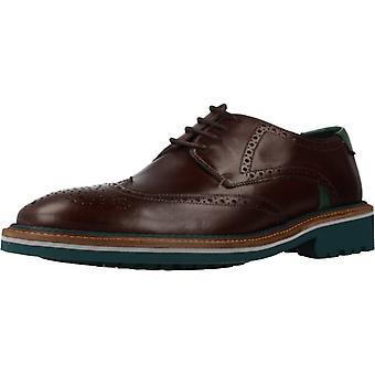 Angel Infantes Zapatos De Vestir 31091a  Color Castagno