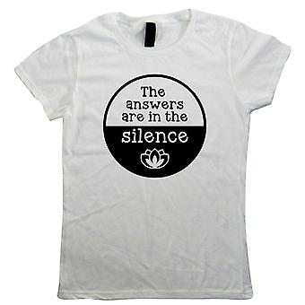 Answers In The Silence, Womens T-Shirt - Meditation Gift Her Mum