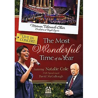 Cole, Natalie with the Mormon Tabernacle Choir - The  Most Wonderful Time of the Year [DVD] USA import