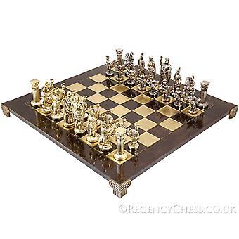 Manopoulos grote Griekse Romeinse leger metalen schaakstukken