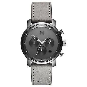 MVMT Monochrome Chrono Men's Watch Wristwatch Leather D-MC02-BBRG