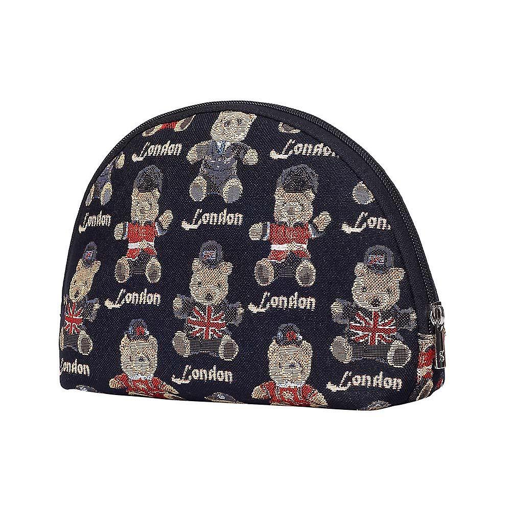 London bear big cosmetic bag by signare tapestry / bgcos-lnbe