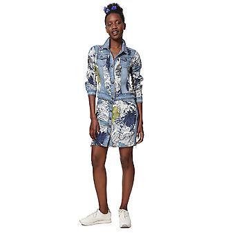 Desigual Women's Gisela Floral Patch Denim Jacket