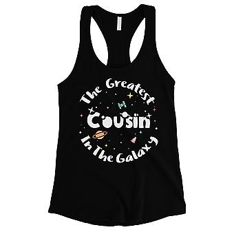 The Greatest Cousin Womens Black Tank Top Funny Gift For Cousin