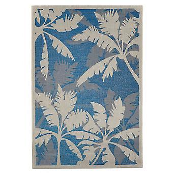 Outdoor carpet for Terrace / balcony carpet indoor / outdoor - for indoor and outdoor living Palm blue natural 160 X 230 cm