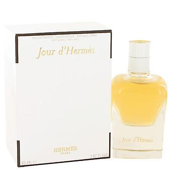 Jour d'hermes eau de parfum spray uudelleen täytettävä hermes 500123 85 ml