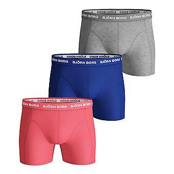 Bjorn Borg Men's Boxer Shorts 3 Pack ~ Sawmmy Seasonal Solid