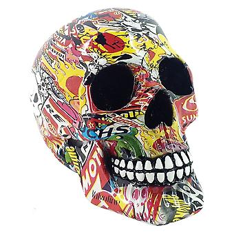 Nemesis Now Pop Art Skull 19cm Figurine