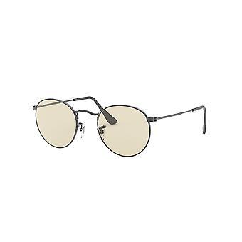 Ray-Ban Rund Metall RB3447 004/T2 Gunmetal / Ljusbrun fotokromiska solglasögon