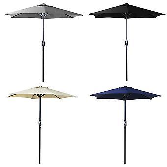 Charles Bentley Patio Market Garden Parasol Umbrella Crank Funktion-Powder Coated Steel Frame-4 Farben-XL