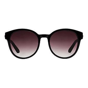 Le Specs Paramount Black Round Sonnenbrille