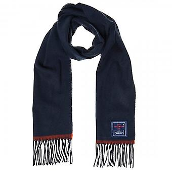 Superdry Solid Capital Tassel Scarf Navy Blue 11S