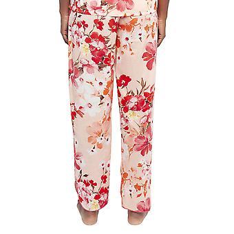 Cyberjammies 4425 Naiset's Darcie Coral Oranssi Kukka Tulosta Puuvilla Pyjama Pant