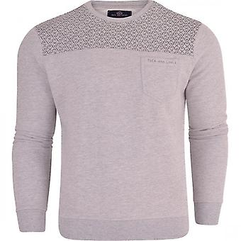 Duck and Cover Duck And Cover Mens Original Designer Crew Neck Sweatshirt Jumper Smart Casual Top Chest Pocket