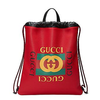Gucci Web Print Backpack