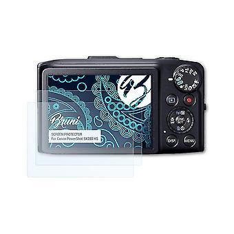 Bruni 2x Schutzfolie kompatibel mit Canon PowerShot SX280 HS Folie