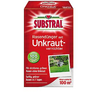 SUBSTRAL® lawn fertilizer with weed killer, 2 kg