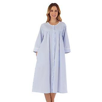 Slenderella HC55227 Women's Striped Robe Dressing Gown