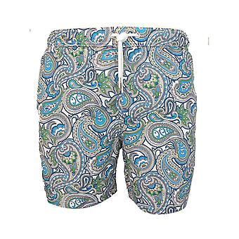 Mooie groene shorts Paisley Print Swimshort