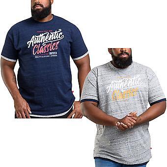 Duke D555 Mens Finn King Size Big Tall Short Sleeve Crew Neck T-Shirt