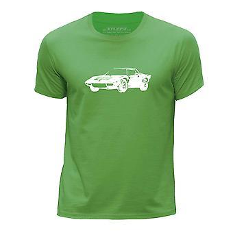 STUFF4 Chłopca rundy szyi samochód Shirt/Stencil Art / Stratos HF/zielony