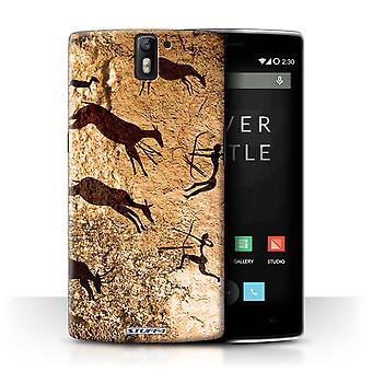 STUFF4 Case/Cover for OnePlus One/Hunters/Brown/Cave Painting